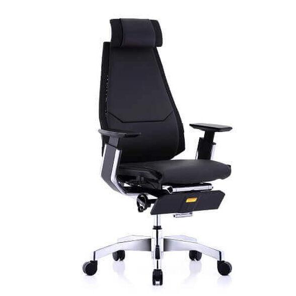 כסא עבודה ארגונומי ואורטופדי לישיבה ממושכת של עד 14 שעות דגם GENIDIA Luxury מבית Comfort כולל הדום רגליים!!, , large image number null