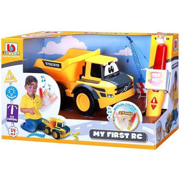 משאית חול וולוו + שלט תנועה לנהג הצעיר BURAGO, , large image number null