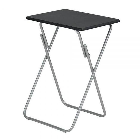 שולחן נייד דגם גו מבית HOMAX בשני צבעים לבחירה_מגש שחור -  שילדה כסופה, , large image number null