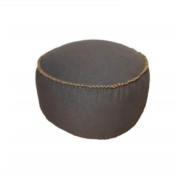 הדום עגול ומעוצב עם גימור חבל להשלמת פינת ישיבה וסלון דגם Tarragona מבית SHANGO_אפור כהה, , large image number null