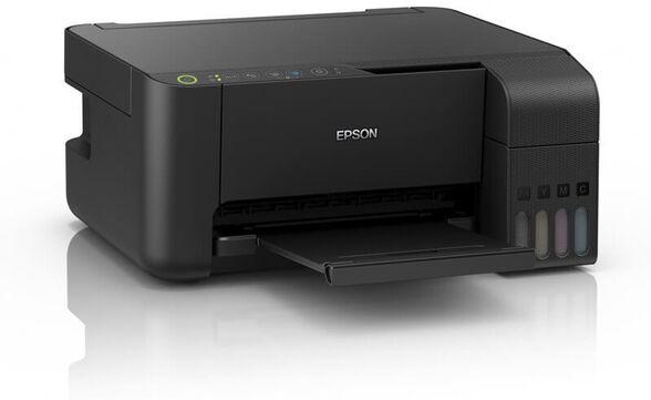 מדפסת משולבת אלחוטית L3150 EPSON צבעונית EcoTank ITS- דיו כלול עד 8100 שחור ועד 6500 צבע , , large image number null