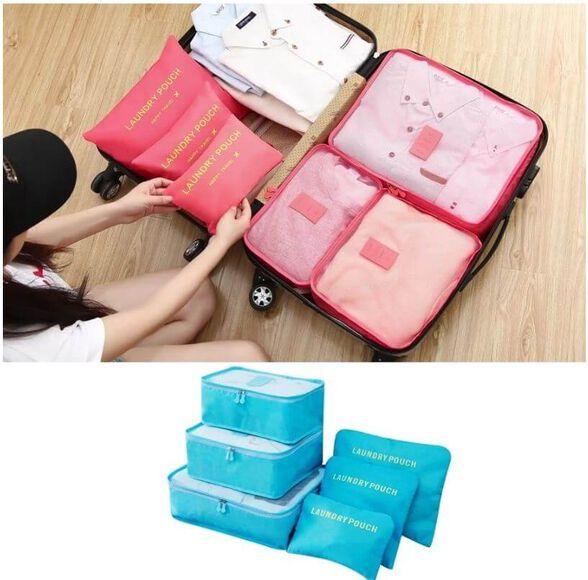 סט 6 ארגוניות למזוודה,לסידור נוח וחיסכון במקום במזוודה | מגוון צבעים לבחירה, , large image number null