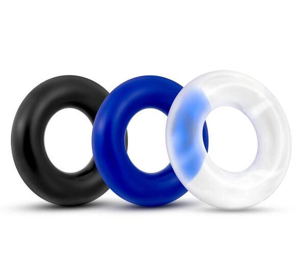 טריפל קוק רינג 3 טבעות לחיזוק הזקפה ולהארכת זמן משגל.  הטבעת מולבשת על בסיס האיבר הזכרי, , large image number null