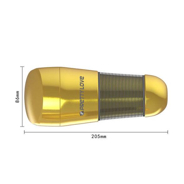 פלאשלייט VAGINA GOLD, המאונן המושלם לגבר בצורת דמוי איבר נשי, במגע  סופר סופט סקין לתחושה כמו הדבר האמיתי, , large image number null