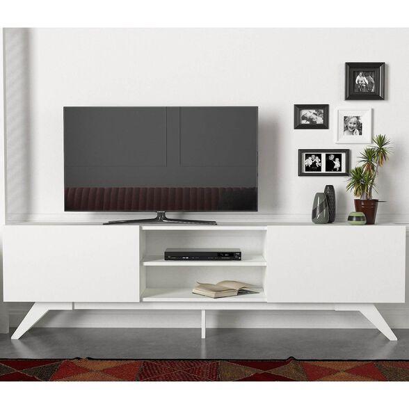 מזנון טלוויזיה 1.8 מטר דגם MIRA צבע לבן מבית GEVA DESIGN, , large image number null