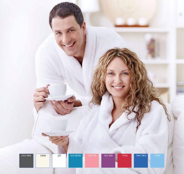 חלוק רחצה מפנק 100% כותנה לנשים וגברים   במבחר מידות וצבעים לבחירה., , large image number null