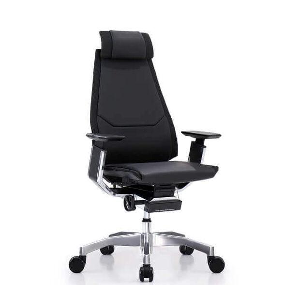 כסא עבודה ארגונומי ואורטופדי לישיבה ממושכת של עד 14 שעות דגם GENIDIA עור מבית Comfort, , large image number null