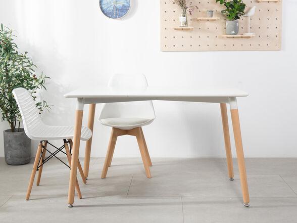 שולחן בר איכותי, רגלי עץ מלא דגם לרנקה מבית IDesign_לבן, , large image number null