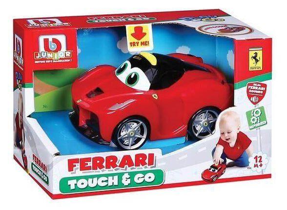 מכונית פרארי לחץ וסע + קולות BURAGO, , large image number null