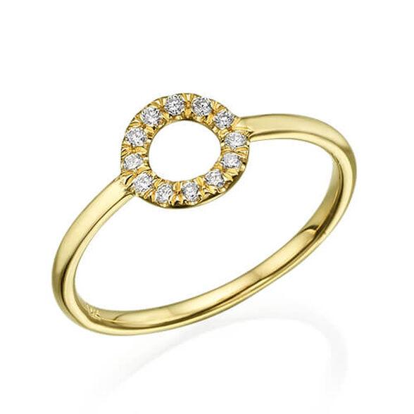 טבעת מעגל החיים 0.15 קראט יהלומים, , large image number null