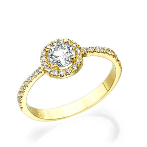 """טבעת אירוסין """"מיה"""" 0.76 קראט  זהב לבן / צהוב לבחירה 14K, , large image number null"""