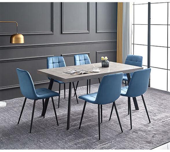 מערכת פינת אוכל אמרטו הכוללת שולחן דמוי בטון + 4 כסאות סנדרין מבית VITORIO DIVANI , , large image number null