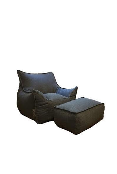פוף כורסא ממש כמו הגדולים מותאם במיוחד למידות של הקטנטנים ומגיע עם הדום תואם שהם פשוט עפים עליו דגם Baby Sicilia מבית SHANGO_אפור כהה, , large image number null