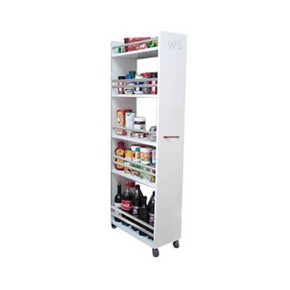 ארון שירות נייד למזווה, לאיחסון וניוד משקאות ושימורי מזון, , large image number null