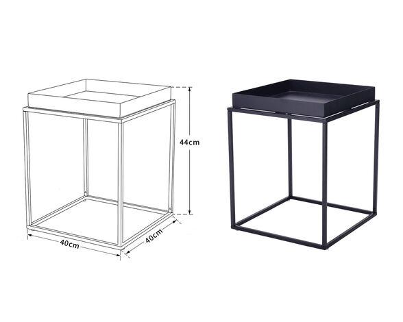 שולחן איכותי לסלון עמיד לאורך זמן דגם לימסול מבית IDesign_40X40X44, , large image number null