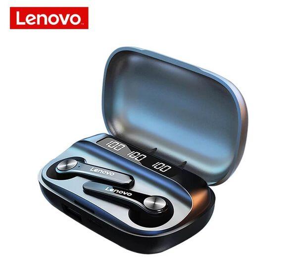 אוזניות QT81 Lenovo - סטריאו TWS אלחוטיות עם סאונד היקיפי ומיקרופון מובנה | צבע לבחירה_שחור, , large image number null