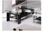 שולחן סלון מזכוכית דגם MILANO מבית GAROX