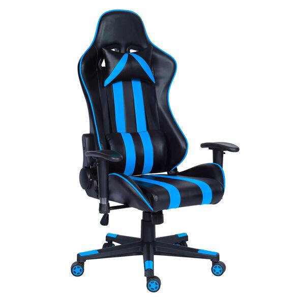 כסא גיימינג דגם GAMER PRO בעל כריות נוחות לראש ולגב    אפשרות הטיה לאחור עד מצב שכיבה מלא 180 מעלות   הובלה חינם!, , large image number null