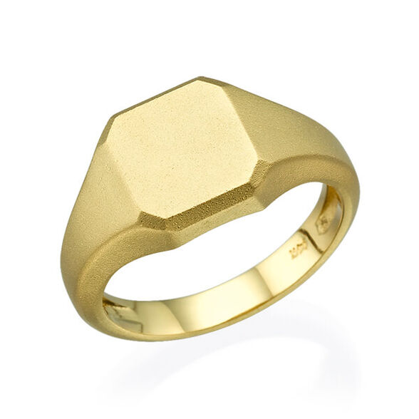 טבעת חותם זהב לבן או צהוב, , large image number null