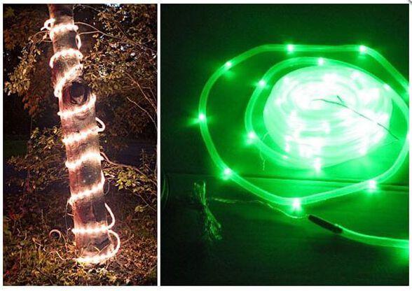תאורה ידידותית לסביבה: שרשרת 50 נורות LED סולארית, נטענת באור יום ודולקת בלילה, בחיפוי פלסטיק איכותי וגמיש   מתאים לבריכות ואקווריומים, , large image number null