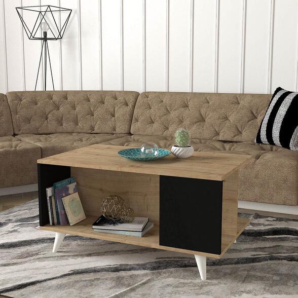 שולחן קפה מעוצב שחור אלון דגם רימון מבית GEVA DESIGN, , large image number null