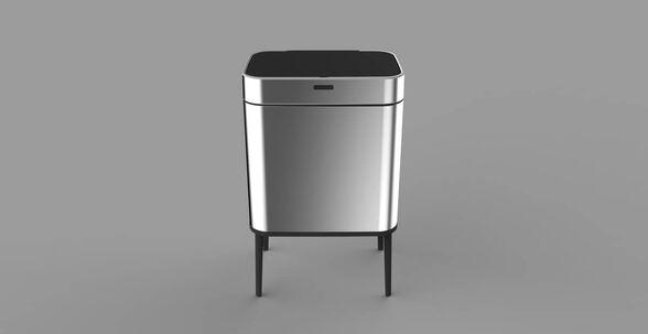 פח אשפה אוטומטי בעיצוב חדשני כולל רגליים   40 ליטר עם חיישן אלקטרוני   במבחר צבעים   SFREE, , large image number null