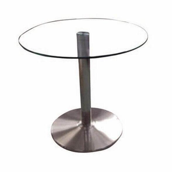 שולחן המתנה איכותי עם זכוכית מחוסמת על רגל ניקל יציבה ואיכותית   גודל לבחירה, , large image number null