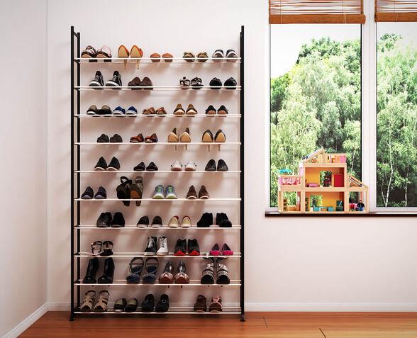 ארון נעליים מודולרי ל 50 זוגות מבית Razco כולל כיסוי בצבע בז', , large image number null