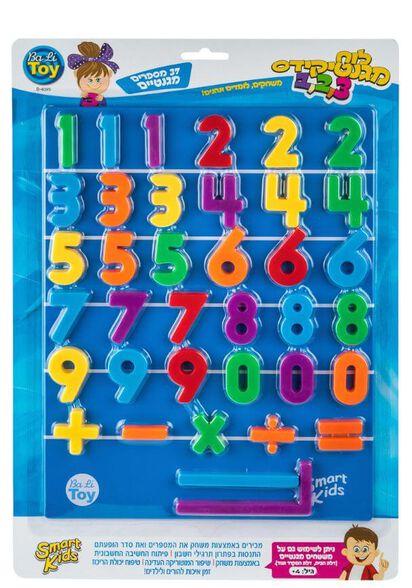 לוח מגנטי מספרים   מגנטיקידס 1,2,3 37 חלקים - SMART KIDS, , large image number null