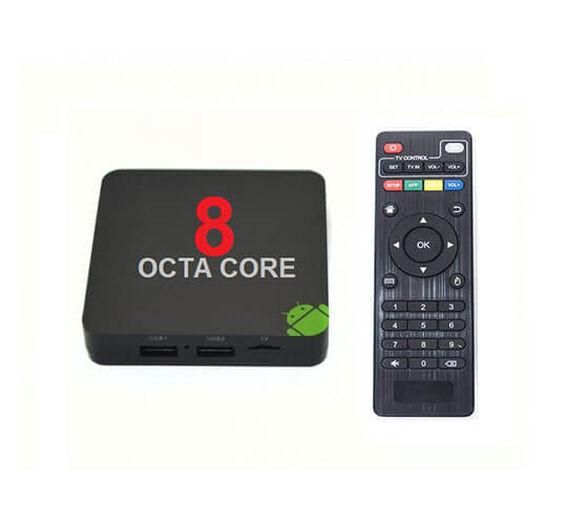 סטרימר ANDROID TV BOX  8 ליבות OCTA CORE +שלט כולל קודי פתוח  Kodi משולב קופסת טלויזיה חכמה דגם מתקדם ועוצמתי OCTA CORE 4K +שלט עם חיבור אינטרנט  ו-WI-FI כולל KODI מעודכן, , large image number null