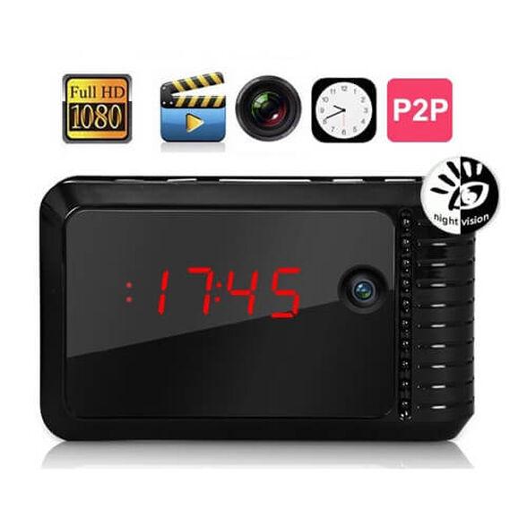 מצלמת אבטחה IP נסתרת בשעון עם אפשרות הקלטה וצפיה מרחוק , , large image number null