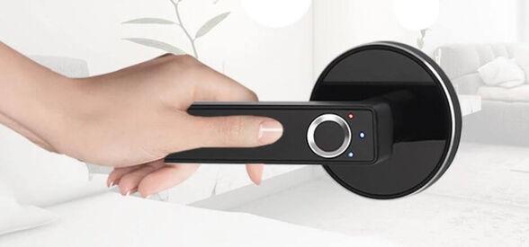 מנעול דלת ביומטרי חכם להגנה מקסימלית ופתיחה מהירה באמצעות טביעת אצבע !!! , , large image number null