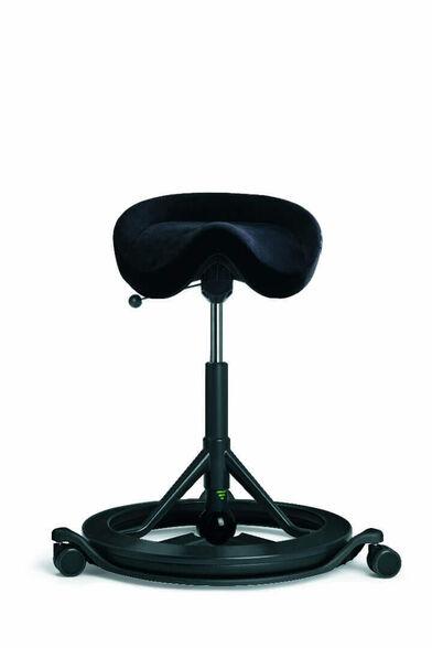 כיסא בריפוד דמוי עור שחור דגם BackApp מבית KEISAR, , large image number null